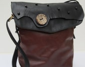 LARGE LEATHER Shoulder POUCH   In Distress