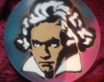 Beethoven Vinyl Record Painting