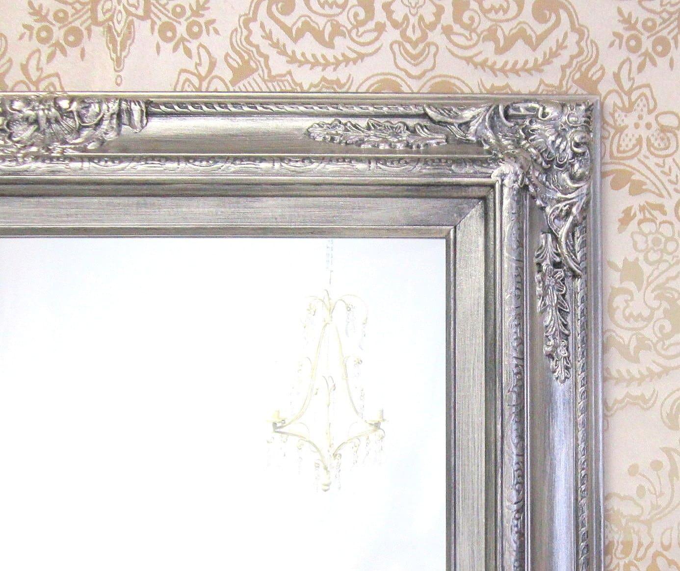 brushed nickel accents bathroom mirror framed by revivedvintage. Black Bedroom Furniture Sets. Home Design Ideas