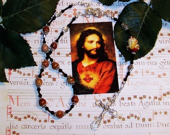 Sacred Heart One-Decade Catholic Rosary for Frog Lovers, Nature Lovers, Environmentalists