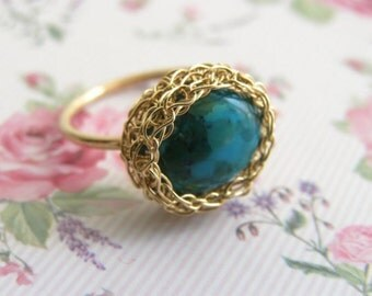 Turquoise Ring, Oval Turquoise ring, December birthstone ring, Gemstone ring, Stacking Ring