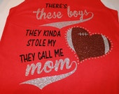 There's these boys glitter and bling FOOTBALL design--Cute and Fun-Full of sparkle