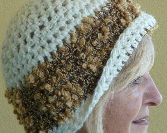 Women's Fashion / Women's Crochet Hats /  Bohemian Accessories / Hats By Anne 1942  / Colorado Clothing / White Winter Hat