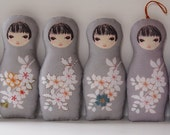 DIY Sewing Kokeshi Doll 3 Fabric Panels DIY Sewing Project Makes 3 dolls