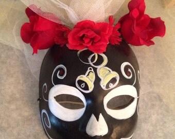Day of the Dead, Halloween, Sugar Skull Mask, Veiled Catrina