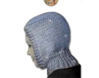 Boys Balaclava Hoodie Vintage  Knitting Pattern - PDF Instant Download - PrettyPatternsPlease