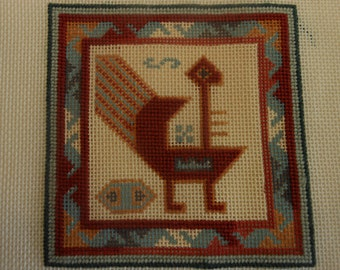 needlepoint canvas, supply,  Southwest turkey, 7 inches square.
