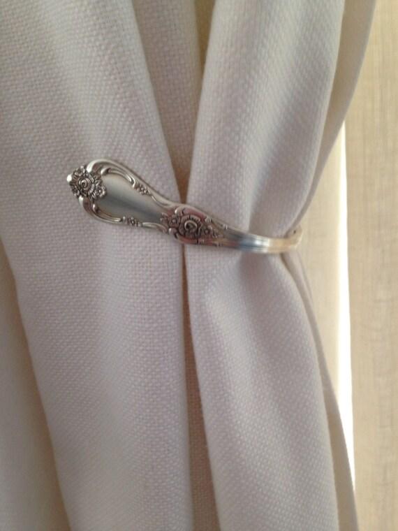 New Item Vintage Silverware Silver Plate Spoon Curtain Tie