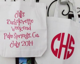 Personalized, Canvas Tote, Graduation, Wedding, Birthday, Gift