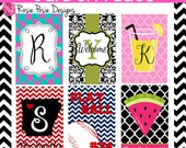Personalized Monogrammed Custom Garden Flag Design Your Own- Stand Included