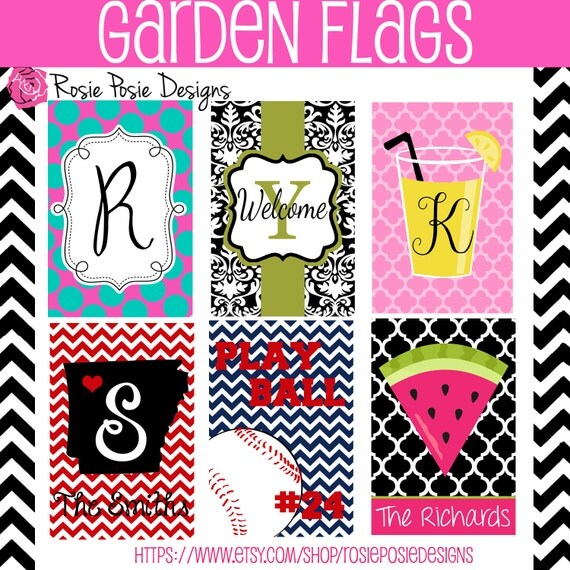 Personalized Monogrammed Custom Garden Flag by