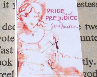 Miniature Classic Novels Book Necklace Charm Pride and Prejudice Version 4