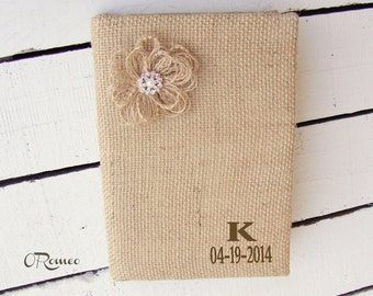 Personalized Rustic Unlined Page Guest Book Journal Diary
