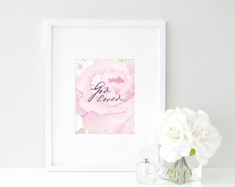 For God so Loved... - 8x10 Watercolor Print