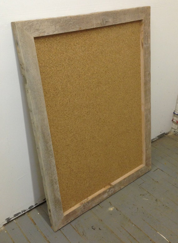 Items Similar To Large Cork Board Reclaimed Wood Frame