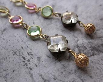 spring pastel shoulder dusters - the carolina earrings