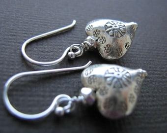 Thai Sterling Silver Heart Earrings