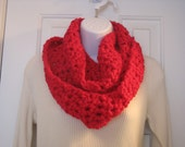 Hand crochet hot pink shimmer and sequin infinity scarf/cowl