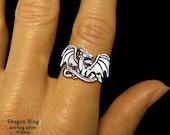 Dragon Ring Sterling Silver Fantasy Ring