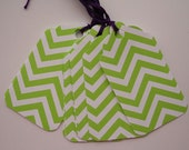 Lime and White Chevron Gift Tags (10)