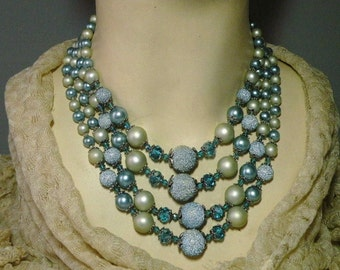 Aqua Sugarbead Necklace