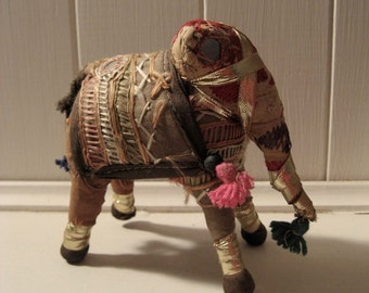 vintage embroidered elephant from India