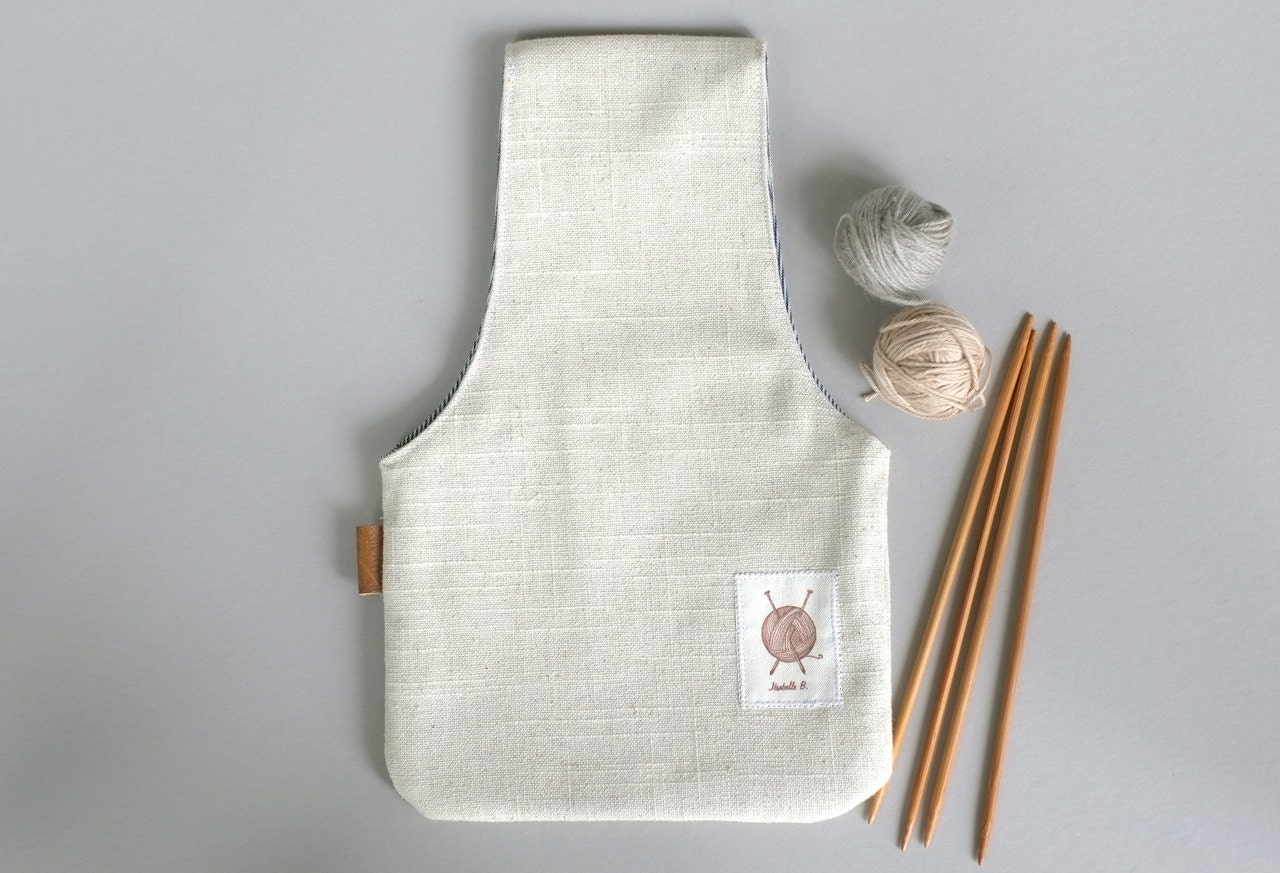 Knitting Bag : Knitting Project Bag, knitting bag, Small knitting wristlet, Knitters ...