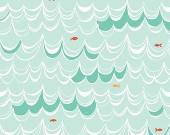 2 Yards Organic Cotton Fabric - Monaluna Under the Sea - Swim