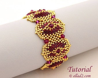 Tutorial Morena Bracelet - Beading tutorial PDF