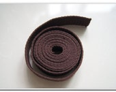 5 yards of 1 inch (25mm) Natural Heavy Duty Cotton Webbing brown