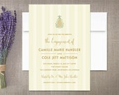 Pineapple Engagement Invitations, Tropical Plantation