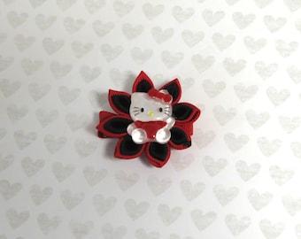 Big flower hello kitty hair clip