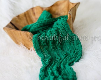 Emerald Green Cheesecloth Baby Wrap Cheese Cloth Newborn Photography