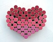 Wedding Heart Wine Cork Bulletin Board for your Wedding Decor - Ombré Pinks, Corals and Reds