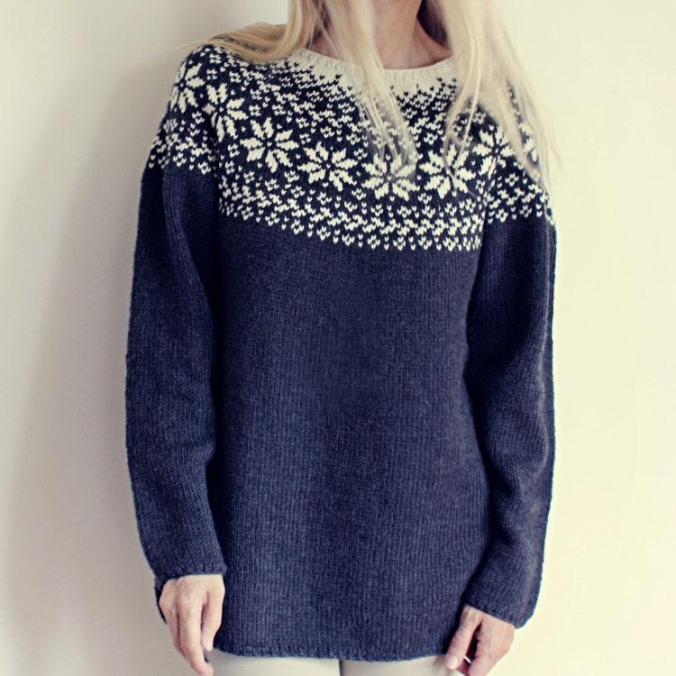 Knitting Pattern Beautiful Norwegian Sweater by ...
