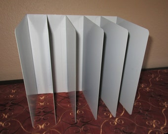 INDUSTRIAL Vintage Putty/Gray Five (5) Slot File Divider, Made By Hunt Manufacturing Company - USA