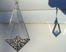 Diamond Bevel Filigree Ornament