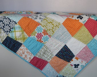 Tumbler Baby Quilt  Lucy's Crab Shack