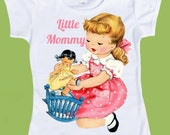 Little Mommy, Customized Free, Any Hair color, girls clothes, Girls T-Shirt,Tank by ChiTownBoutique.etsy