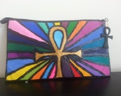 The Light- Hand Painted Clutch Purse