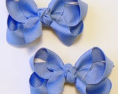 Toddler Girls Hair Bow Set Small Girls Childrens Kids Boutique  Fashion Hair Clip Hairbows Hair Accessories (Set of 2) Choose Colors