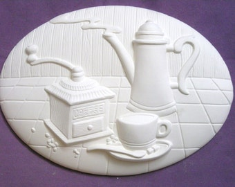 The Coffee Break Wall Plaque Ready to Paint Ceramics ***Price Includes Shipping***