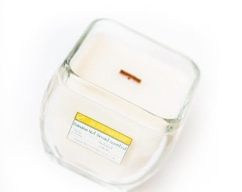 Chunky square crackler candle - Large