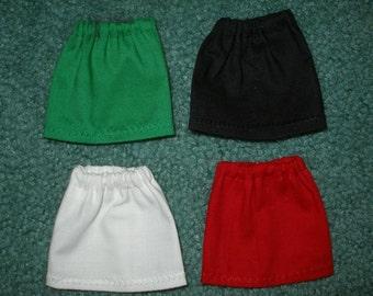 Handmade barbie skirts - pack of 4