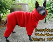 Polar Suit with Head covering,  Polartec ® 300 Fleece for Italian Greyhounds, Hairless, and all small dogs.