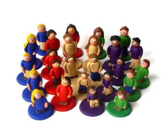 Custom Agricola Clay People (meeples) -- set of 25