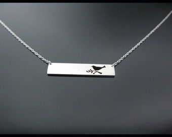Bird Bar Necklace