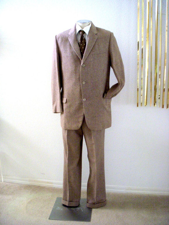 vintage 40er jahre herren anzug 40er jahre 50er jahre brown. Black Bedroom Furniture Sets. Home Design Ideas