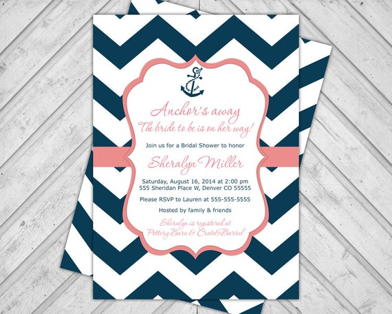 Printable Nautical Wedding Invitations