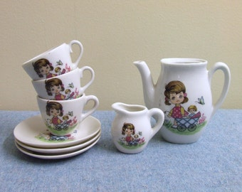 Childrens Ceramic Toy Tea Set - Made in Japan